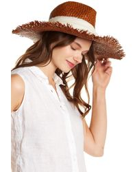 Michael Stars - On The Fray Wide Brim Raffia Hat - Lyst