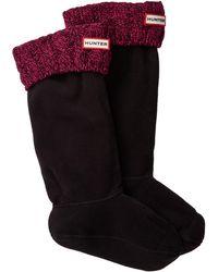 HUNTER - Original Tall Stitch Cable Boot Sock - Lyst