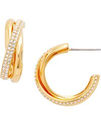 Nadri - Trinity Pave Crystal 19mm Hoop Earrings - Lyst