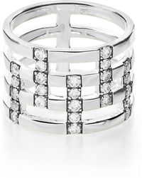 Ippolita - Glamazon Stardust Pave Diamond Openwork Ring - 0.72 Ctw - Lyst