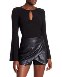 BCBGeneration | Long Bell Sleeve Bodysuit | Lyst