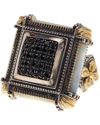 Konstantino - Sterling Silver & 18k Gold Spinel Studded Square Ring - Size 7 - Lyst