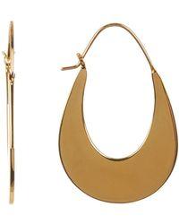 Argento Vivo - Flat Oval 40mm Hoop Earrings - Lyst
