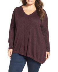 NYDJ - Shimmer Asymmetrical Sweater (plus Size) - Lyst