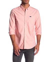 RVCA - 'that'll Do' Slim Fit Oxford Shirt - Lyst