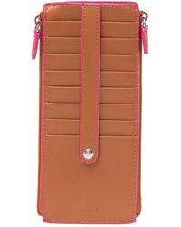 Lodis - Joan Leather Double Zip Card Case - Lyst