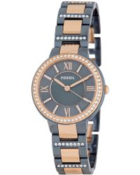 Fossil - Women's Virginia Bracelet Watch, 30mm - Lyst