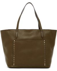 Rebecca Minkoff | Unlined Front Pocket Leather Tote | Lyst