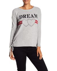 Chaser - Dream Side Lace-up Sweater - Lyst