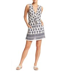 J Valdi - Surplice Neck Sleeveless Dress - Lyst