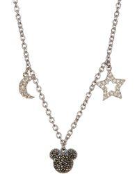 Judith Jack - Sterling Silver Pave Swarovski Marcasite & Crystal Charm Mickey Necklace - Lyst