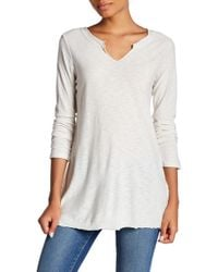 Michelle By Comune - Beaumont Raw Edge Long Sleeve Tee - Lyst