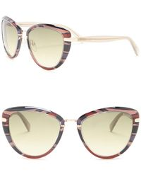 50a833d21d Lyst - Balmain Women s Modified Cat Eye Sunglasses in Metallic