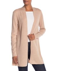 e119e928b7327 Eileen Fisher - Straight Long Merino Wool Cardigan - Lyst