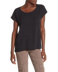 Go> By Go Silk - Raw Cap Sleeve T-shirt - Lyst