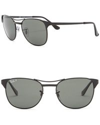 7469080e19 Lyst - Ray-Ban 55mm Rectangle Sunglasses in Black for Men
