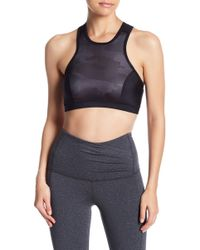 Karma - Camo Paneled Sports Bra - Lyst