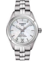 Tissot - Women's Pr 100 Powermatic 80 Lady Cosc Bracelet Watch, 33mm - Lyst