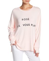 The Laundry Room - Rose' Glovely Dolman Sleeve Tee - Lyst