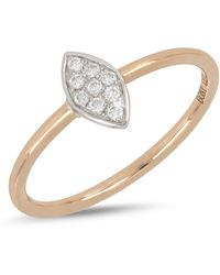 Bony Levy - 18k White & Rose Gold Diamond Detail Marquise Ring - Lyst