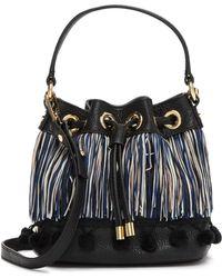 MILLY - Pompom Small Drawstring Bag - Lyst