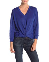 Lush - Twisted Front Sweater - Lyst