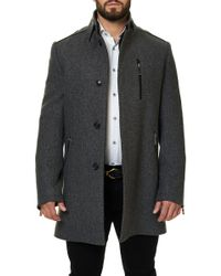 Maceoo - Captain Grey Wool Peacoat - Lyst