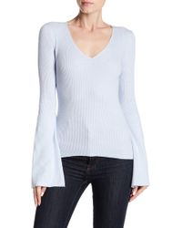 French Connection - Virgie Bell Sleeve Knit Sweater - Lyst