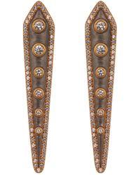 Freida Rothman - Cz Studded Kite Earrings - Lyst