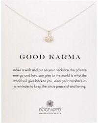 Dogeared - Sterling Silver Good Karma Charm Necklace - Lyst