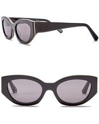 Elizabeth and James - Women's Lindley 51mm Rectangle Cat Eye Sunglasses - Lyst