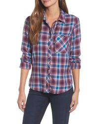 Lucky Brand - Plaid Pocket Shirt - Lyst