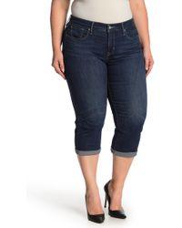 95d88692d6 Lyst - Levi s Womens Plus Denim Shaping Capri Jeans in Blue