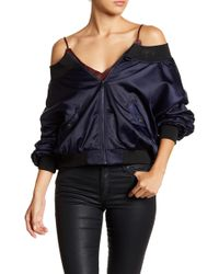 Do+Be Collection - Off-the-shoulder Bomber Jacket - Lyst