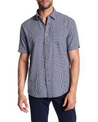 James Campbell - Weck Checked Short Sleeve Regular Fit Shirt - Lyst