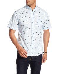 Loft 604 - Short Sleeve Print Regular Fit Woven Shirt - Lyst