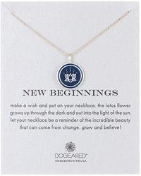 Dogeared - New Beginnings Enamel Lotus Pendant Necklace - Lyst
