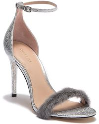 Rachel Zoe - Everly Genuine Dyed Mink Fur Leather Ankle Strap Sandal - Lyst