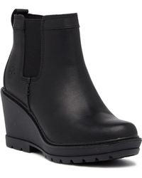 Timberland - Kellis Double Gore Chelsea Leather Wedge Boot - Lyst