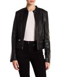 Andrew Marc - Lillian Perforated Faux Leather Jacket - Lyst