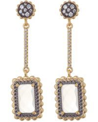 Freida Rothman - Gilded Cable Linear Drop Earrings - Lyst