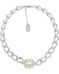 Karine Sultan - Morgane Faux Pearl Link Necklace - Lyst