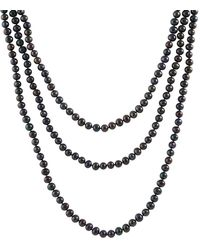 Splendid - 6-7mm Natural Onyx Freshwater Pearl Endless Necklace - Lyst
