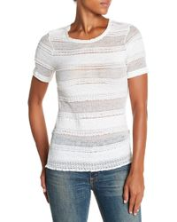 Calvin Rucker - Too Too Shy Shy Lace Tee - Lyst