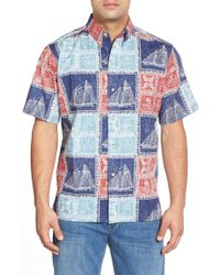 Reyn Spooner - 'newport Patch' Classic Fit Wrinkle Free Pullover Shirt - Lyst