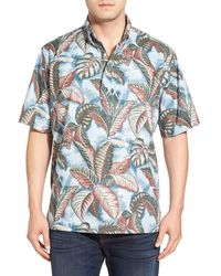 Reyn Spooner - 'hahai Lau' Classic Fit Wrinkle Free Palm Print Sport Shirt - Lyst