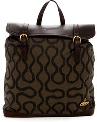 Vivienne Westwood - Leather & Coated Canvas Backpack - Lyst