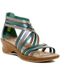 Ahnu - Trolley Leather Wedge Sandal - Lyst