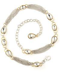 Anne Klein - Multi-chain Oval Tear Drop Belt - Lyst