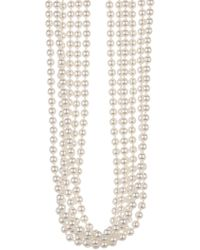 Nadri - Marion 6 Strand 5mm Faux Pearl Necklace - Lyst
